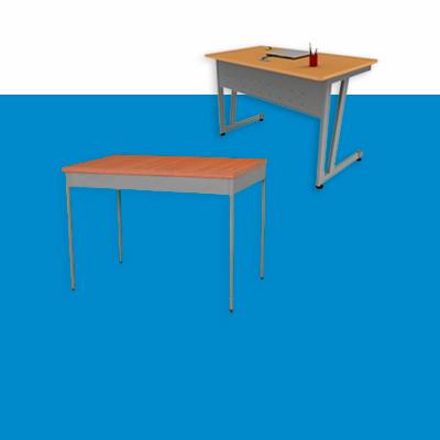 Mesas y escritorios para maestro